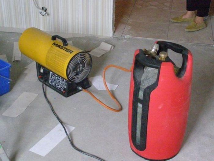 использование газовой пушки