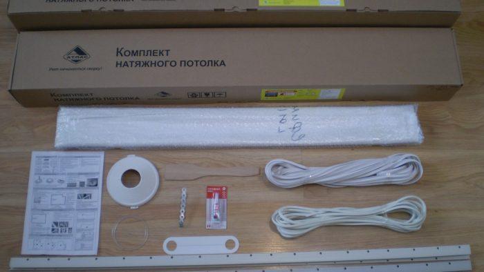 комплектация натяжного потолка