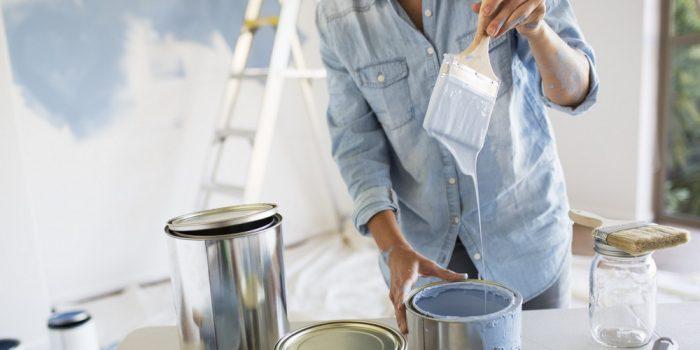 покрасить потолок на кухне