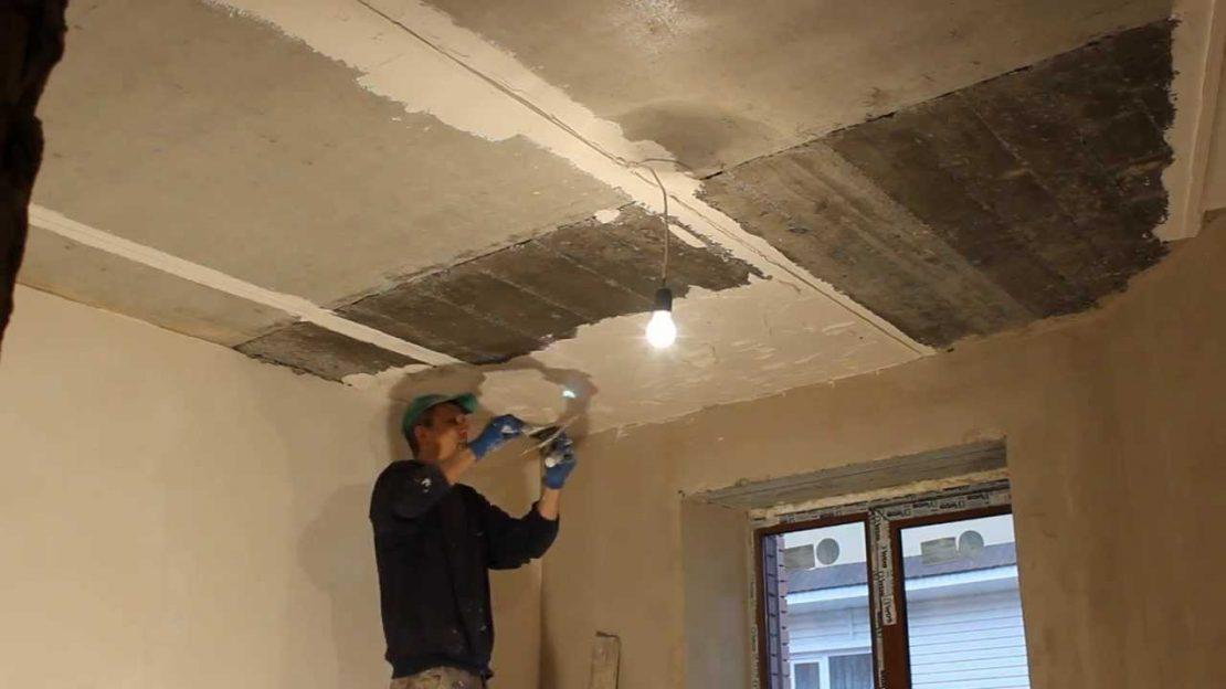 штукатурка деревянного потолка