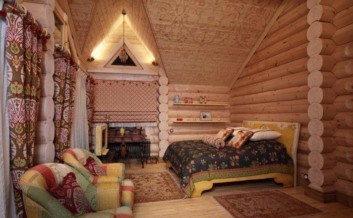потолок в этническом стиле