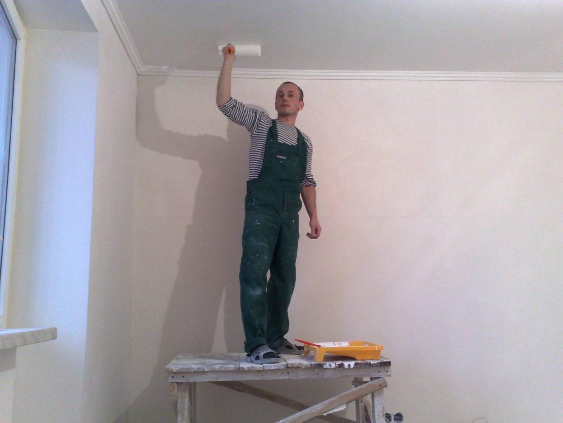 ремонт потолка косметический