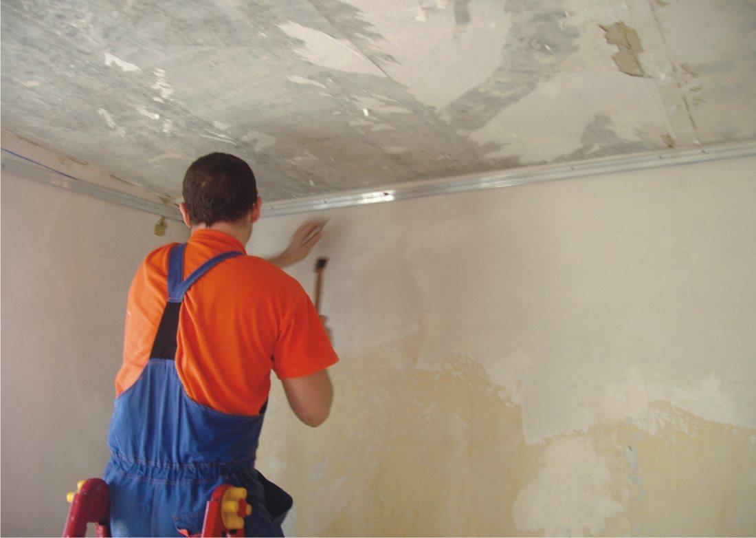 технология оштукатуривания потолка