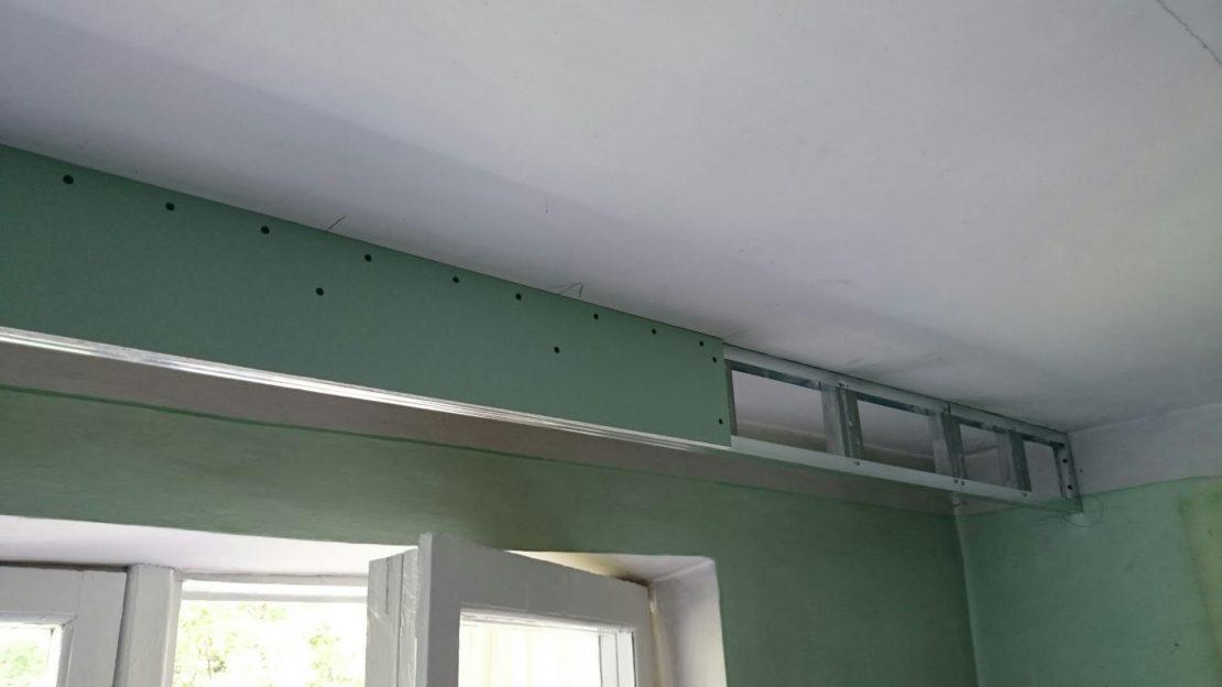 изготовление потолочной ниши