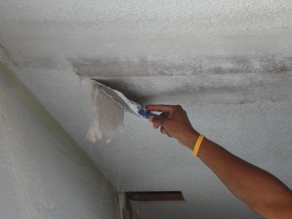 подготовка потолка к грунтованию