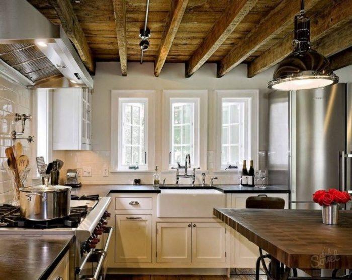 виды реечных деревянных потолков