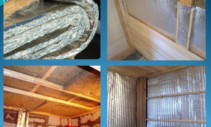 монтаж каркаса и утепление потолка