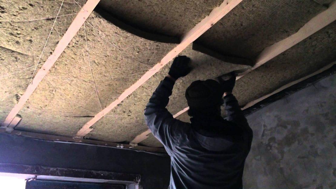 монтаж минваты на потолок