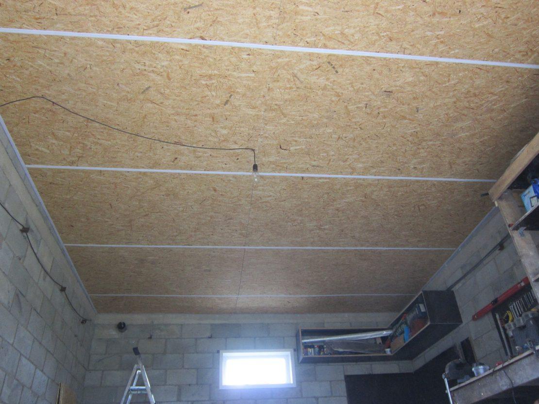 потолок из плит в гараже