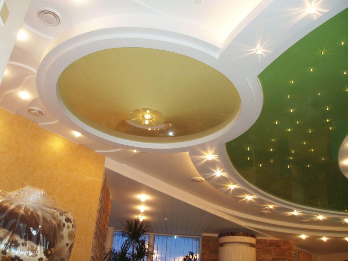 дизайн фигурных гипсокартонных потолков