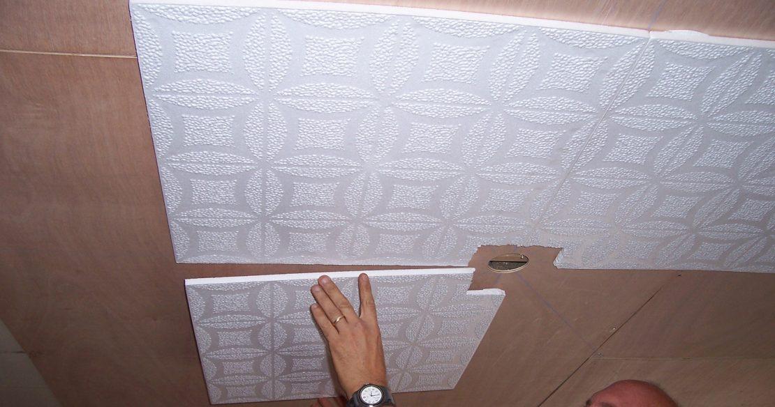 клеевая потолочная плитка