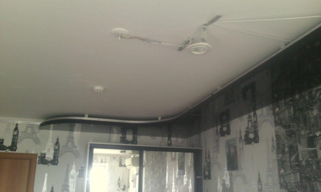 технология монтажа комбинированного потолка