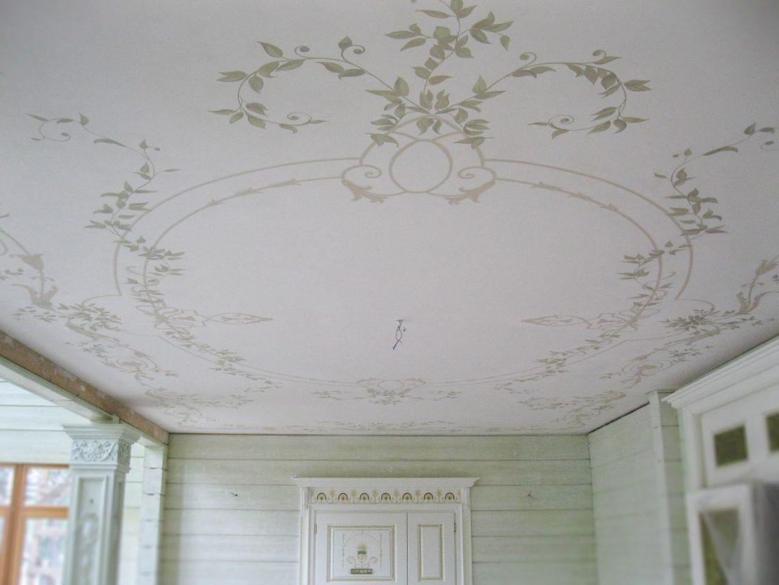 алфрейная распись потолка