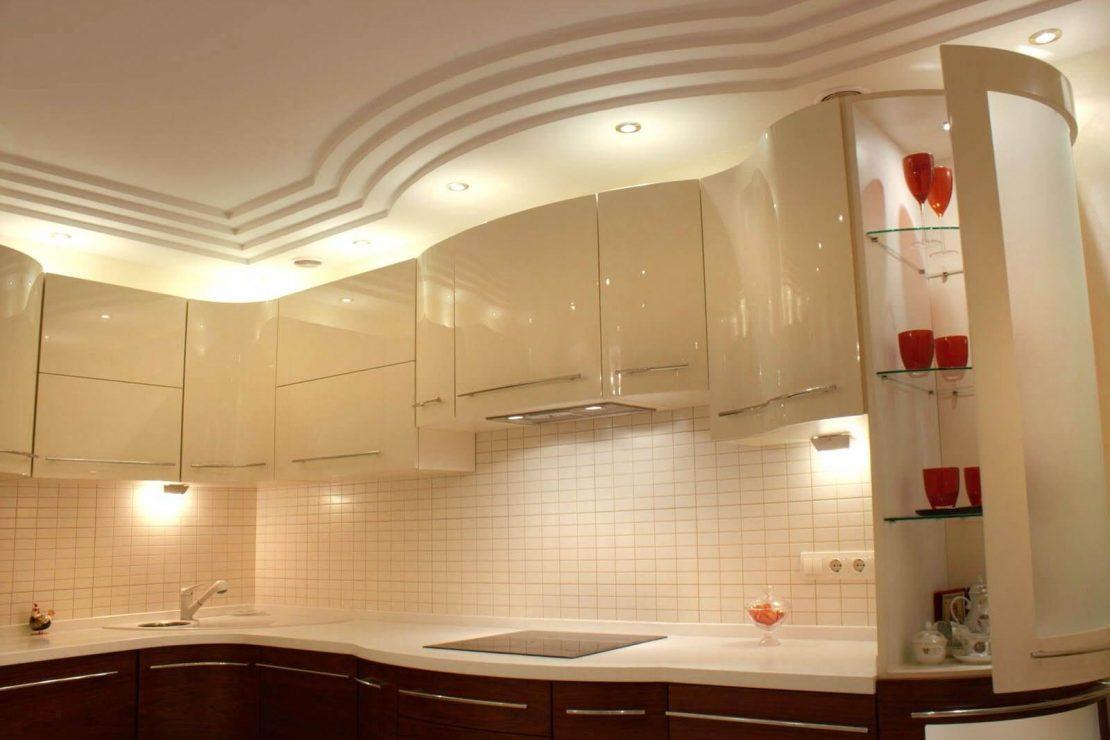 многоуровневые потолки для кухни