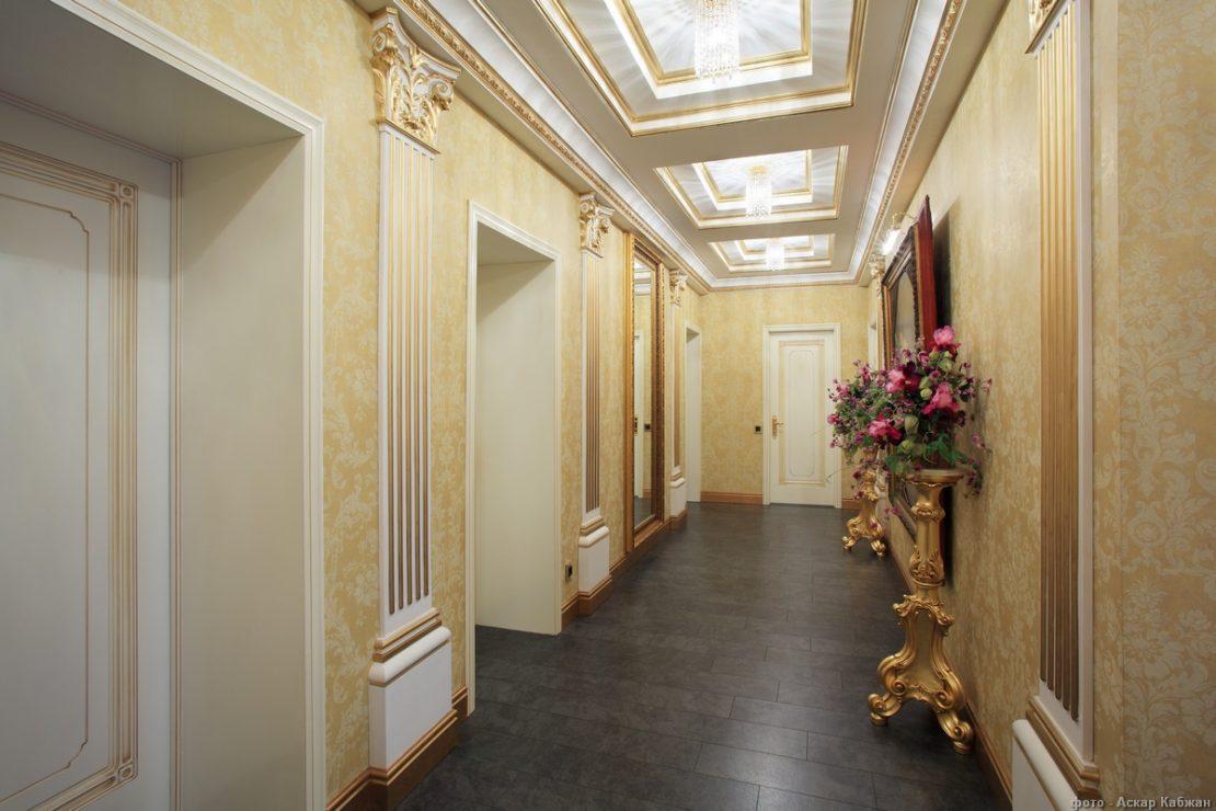 многоуровневые подвесные потолки в коридоре