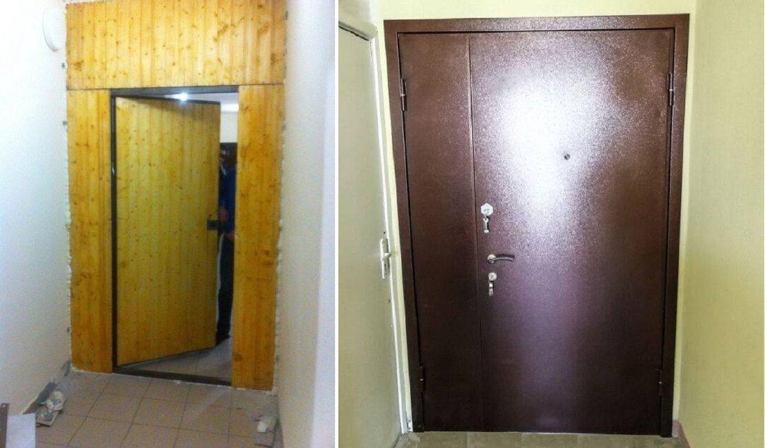 Железная дверь в тамбур
