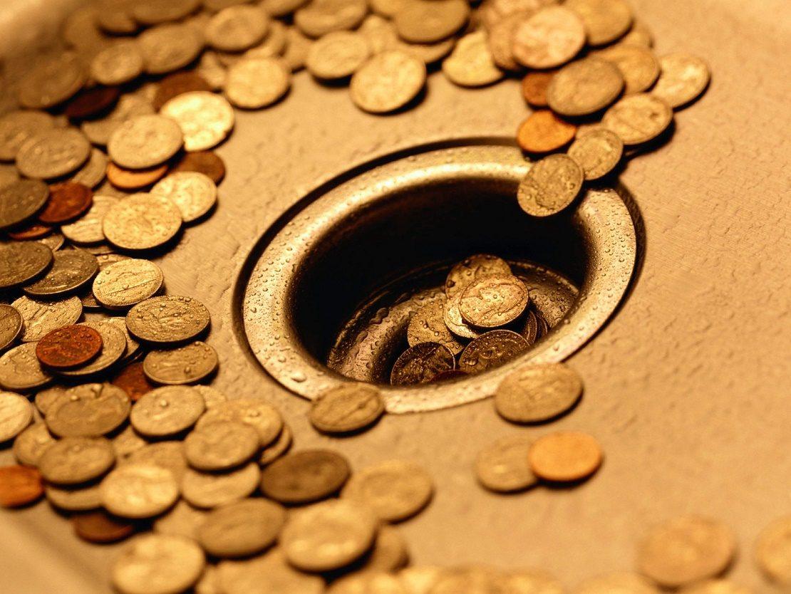 Деньги утекают в трубу