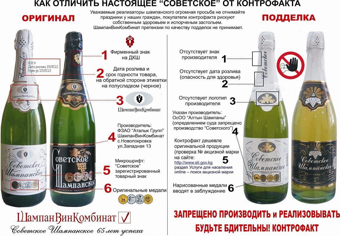 Как отличить советское шампанское от контрафакта