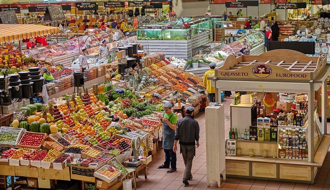 На продуктовом рынке