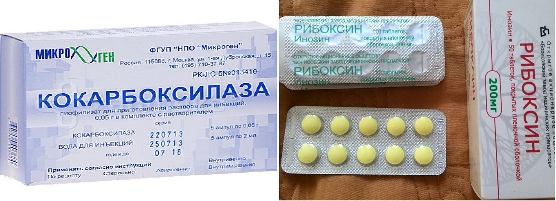 Рибоксин и кокарбоксилаза