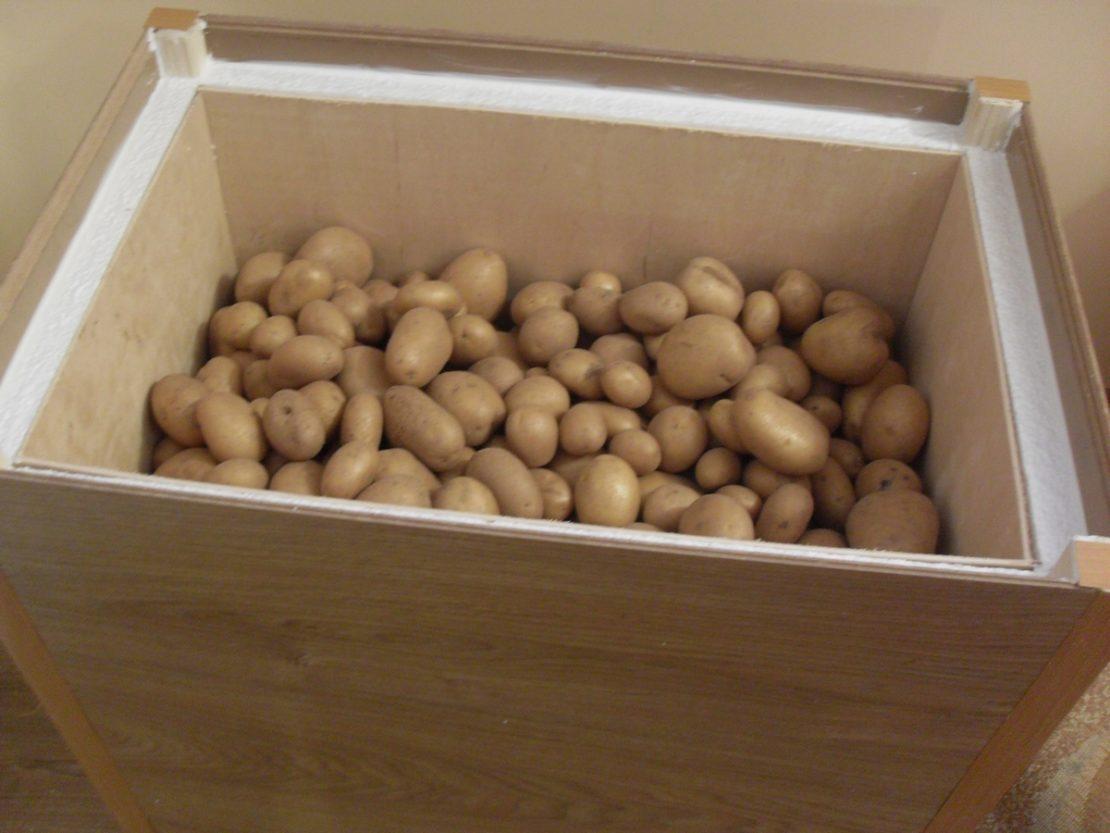 хранение картошки на балконе зимой