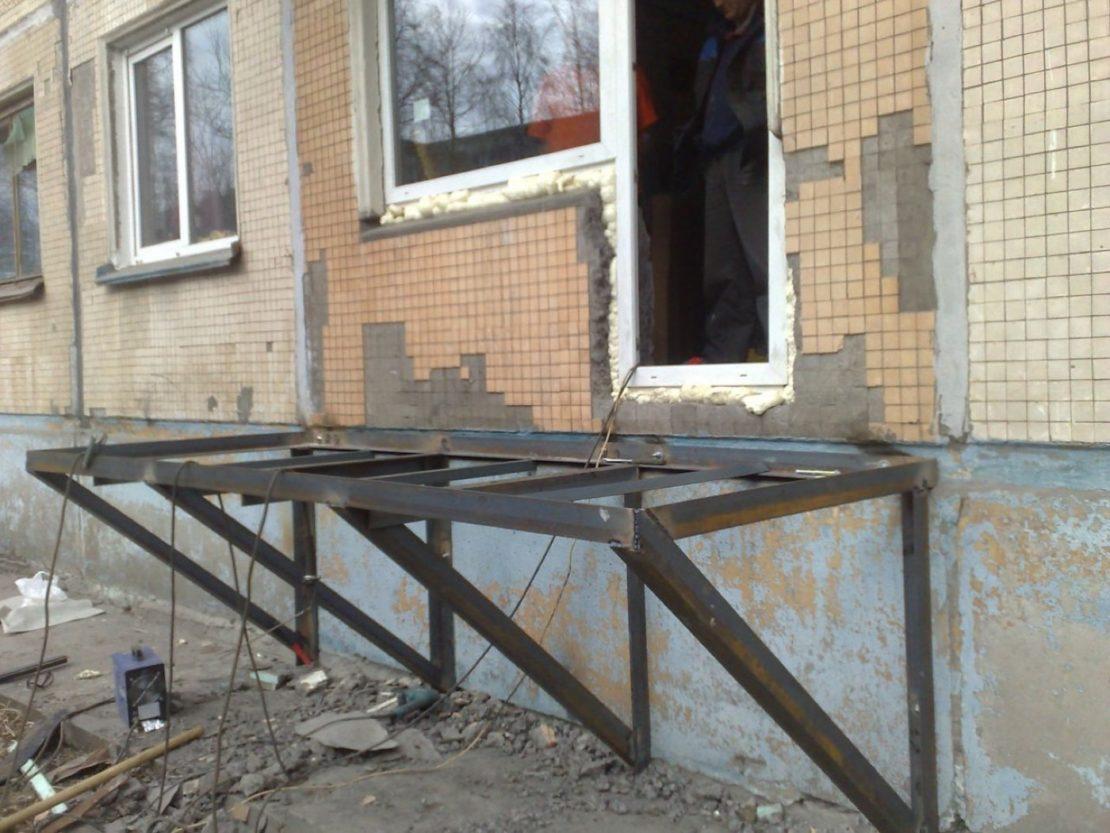 изготовление подвесного балкона