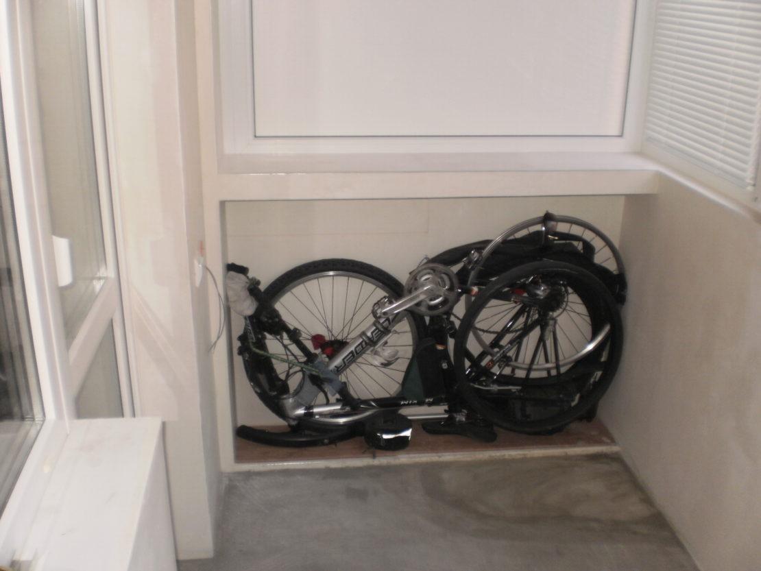 вариант хранения велосипеда