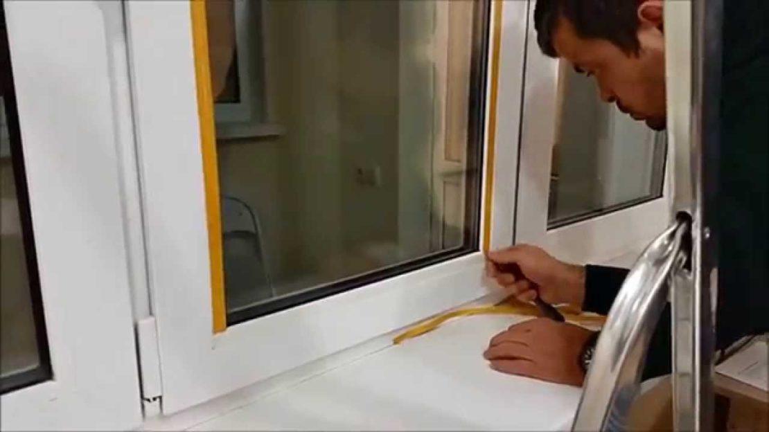 продувание пластиковых окон
