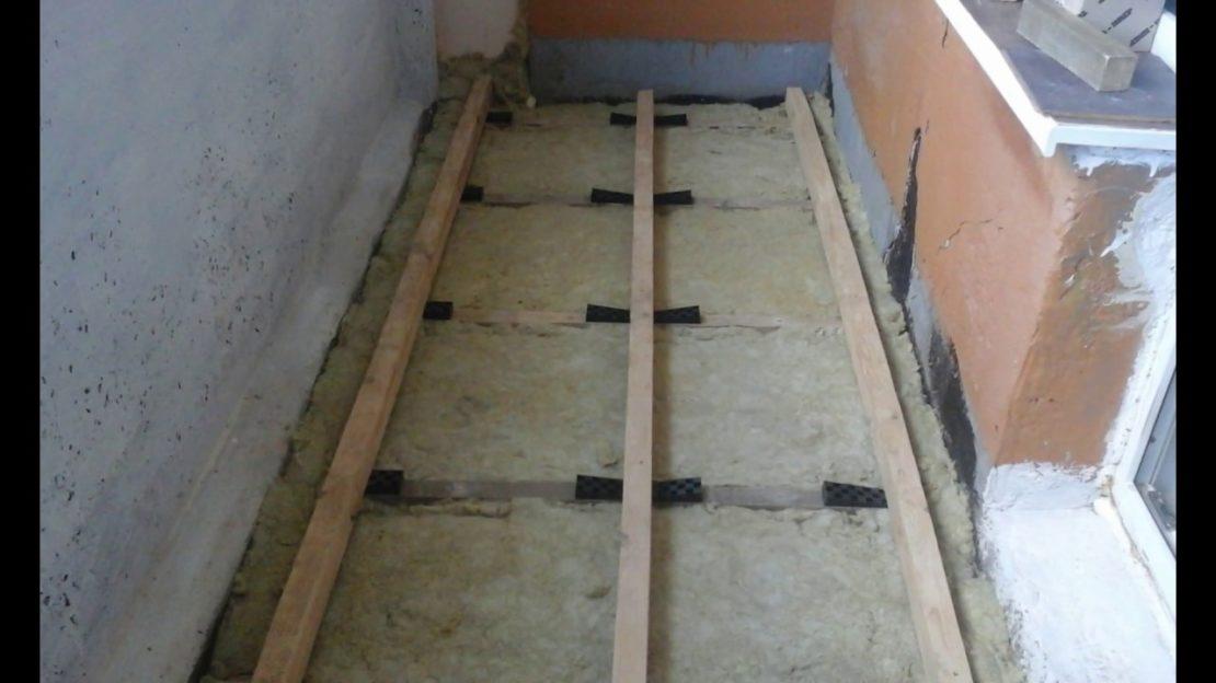устройство пола для мастерской на балконе