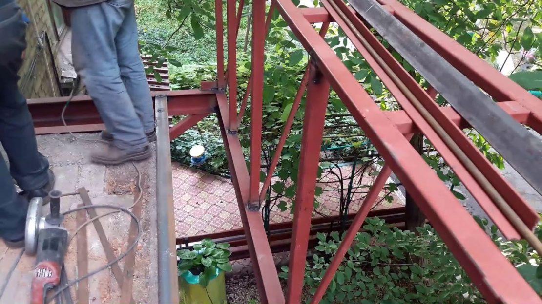 расширение балкона своими руками по плите