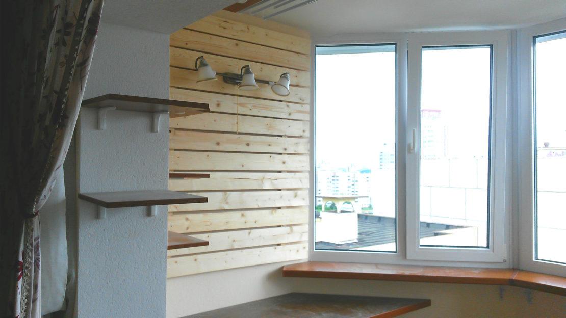 расширение полезного пространства за счет балкона