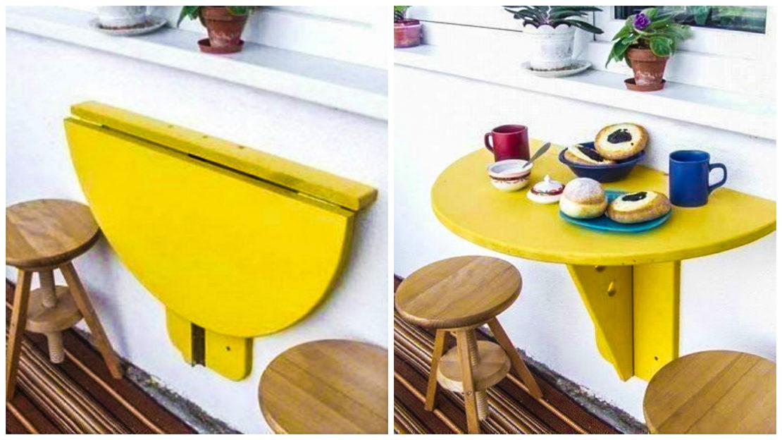 стол на петлях с подпоркой