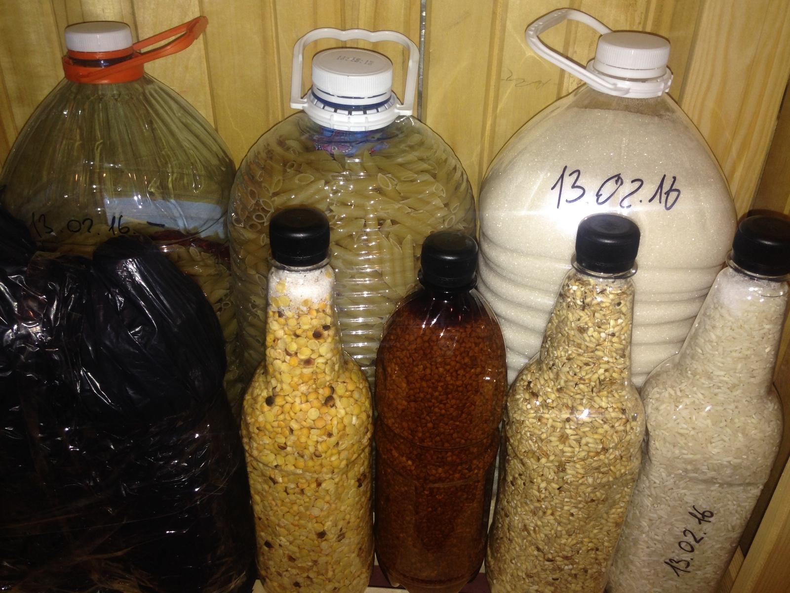 Применение пластиковых бутылок на кухне
