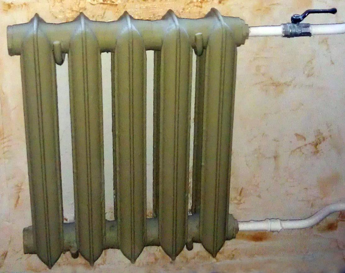 установка чугунных радиаторов отопления