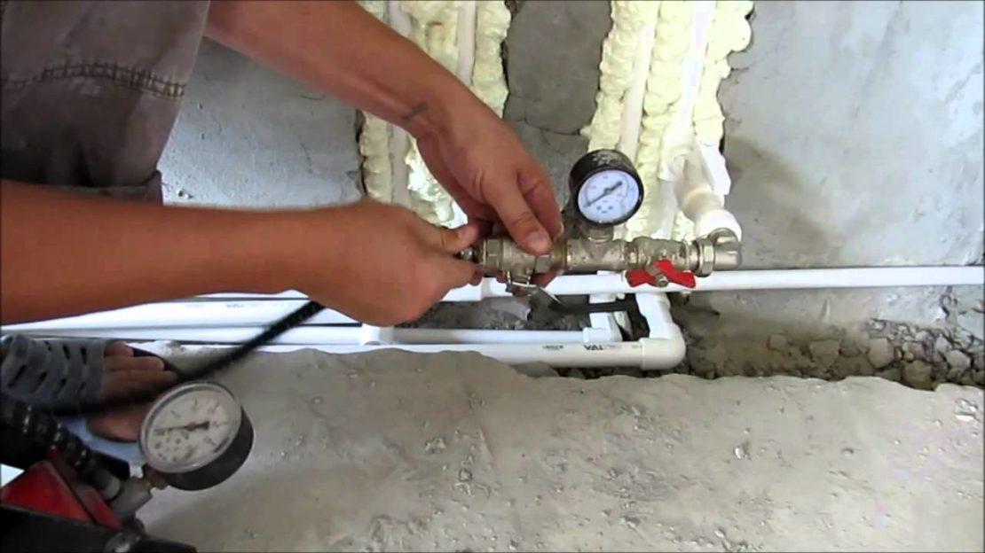 опрессовка сети отопления