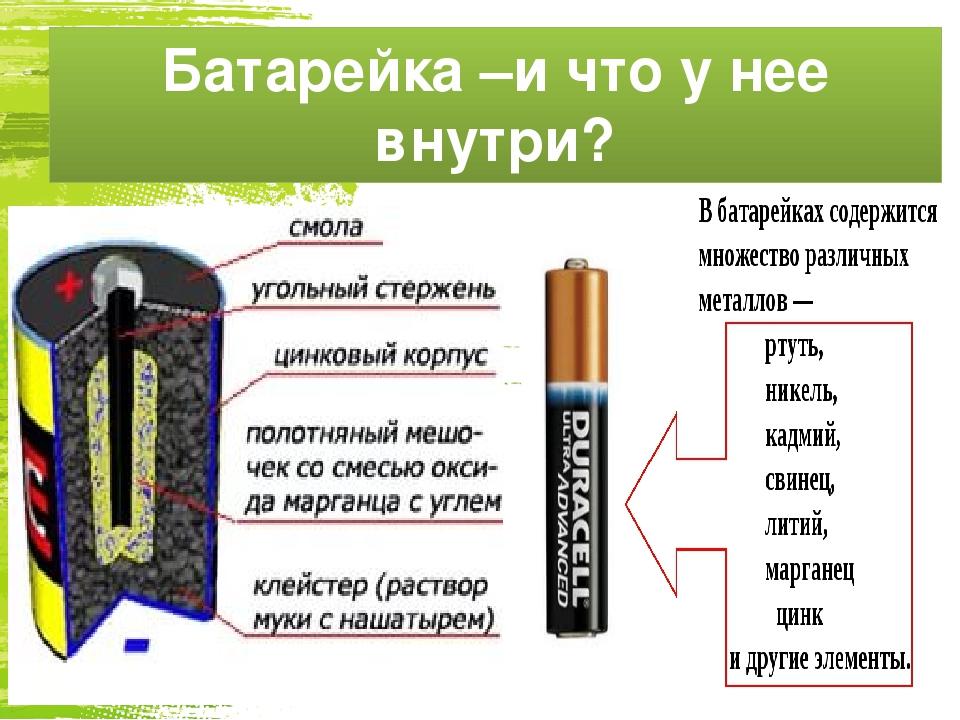 Батарейка и ее содержимое