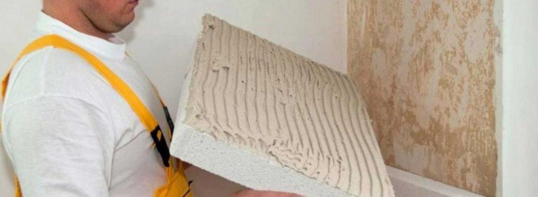 Поклейка шумоизоляционных материалов на стену