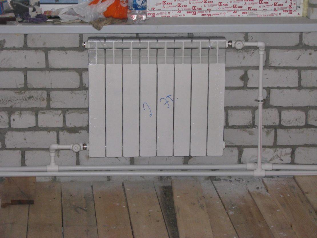 подключение алюминиевых радиаторов отопления