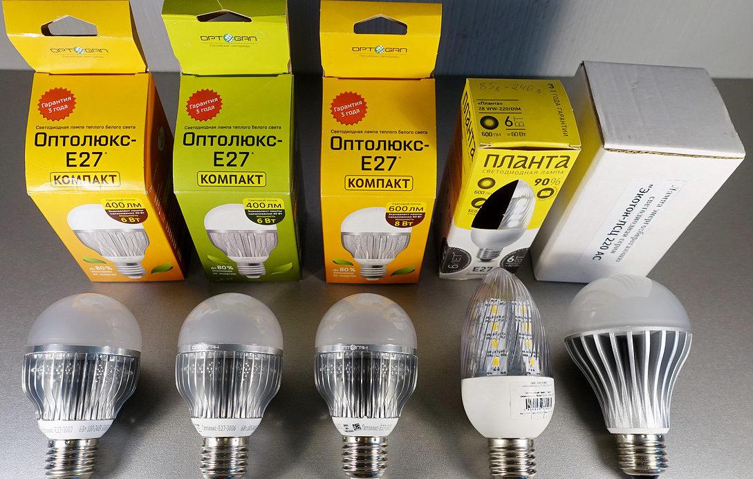 Преимущества и недостатки лампочек