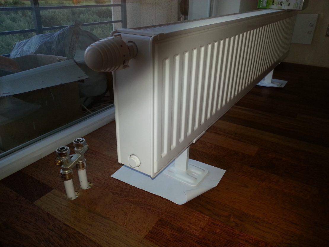 установка напольных радиаторов
