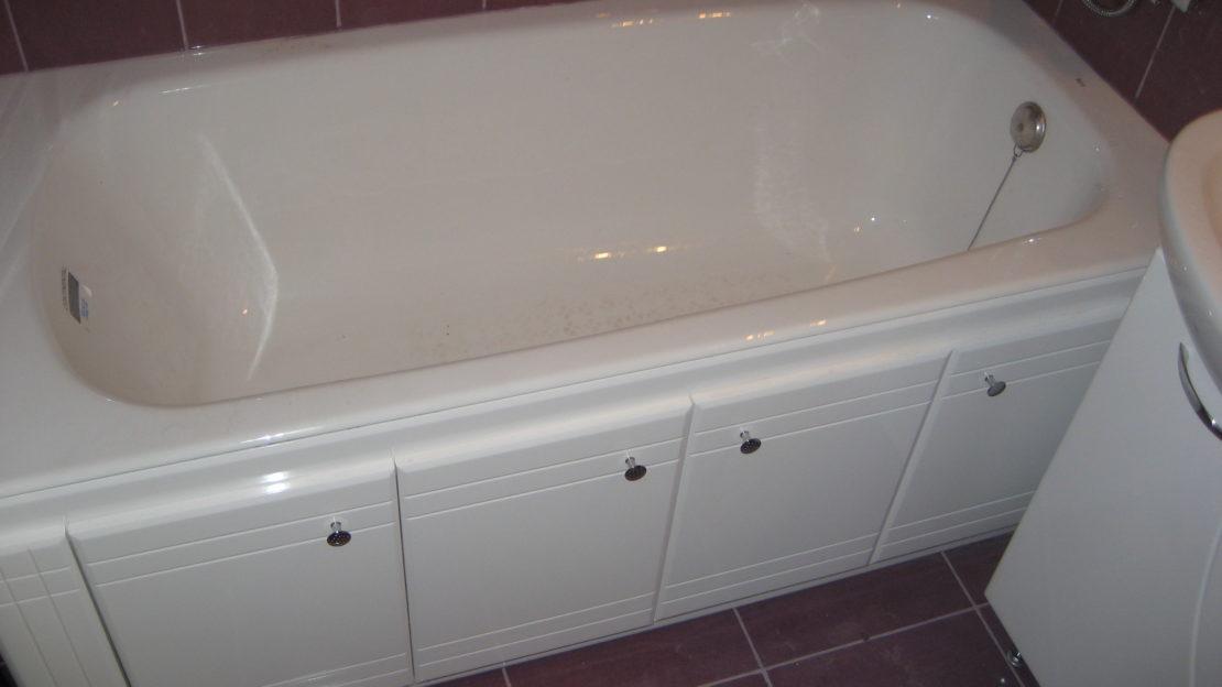Экран под ванной распашной