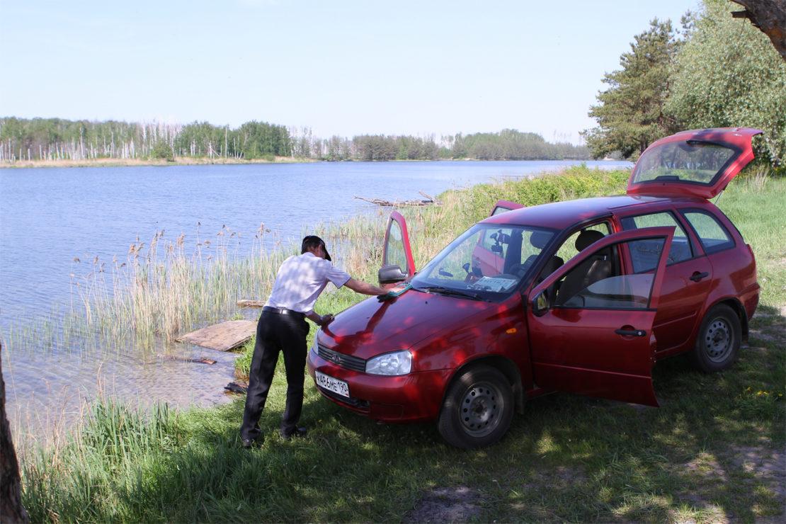 Штрафы за подъезд к реке