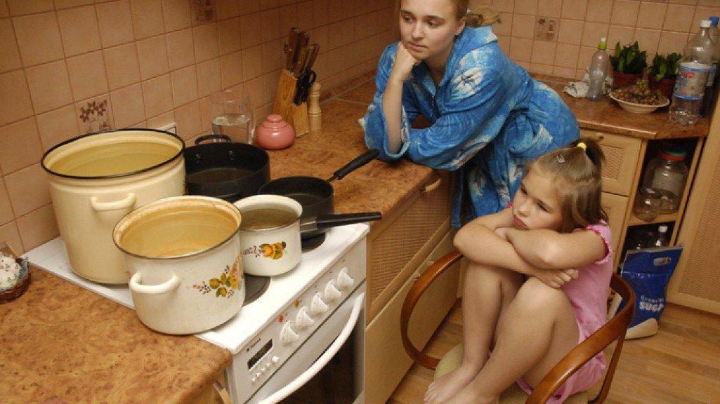 Отключение горячей воды в РФ