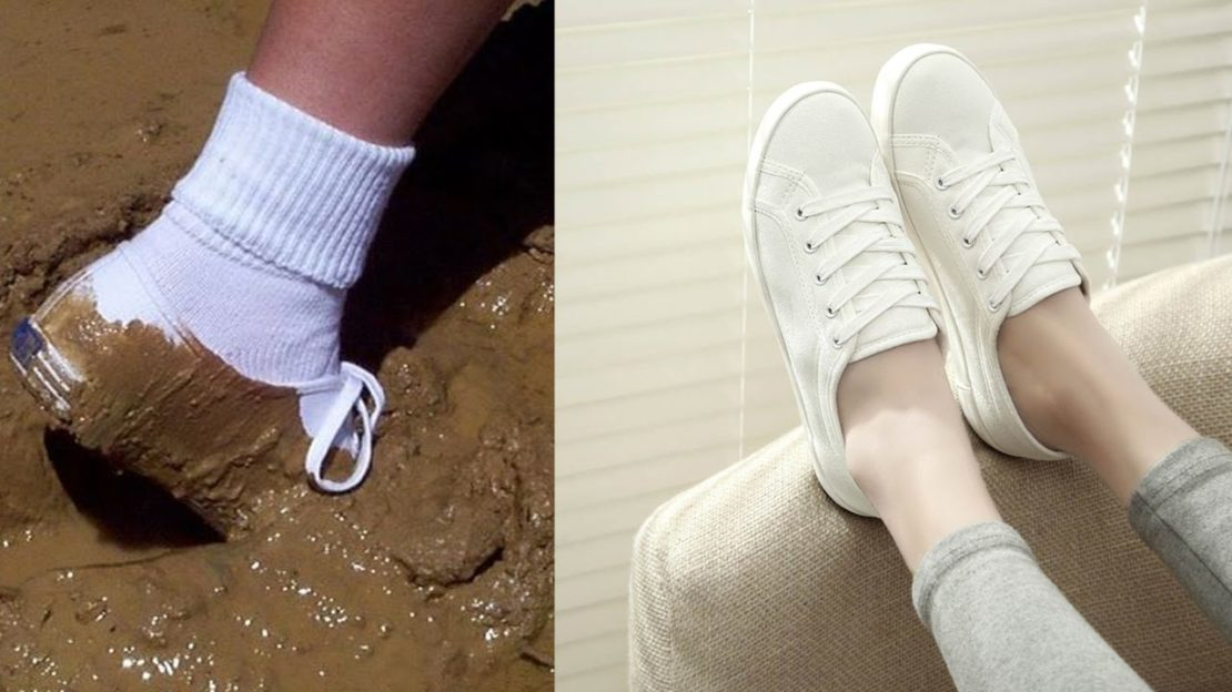 Правила сохранения белизны кроссовок