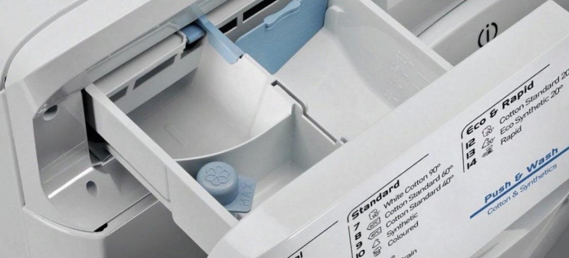 Очистка съемного отдела для засыпания порошка