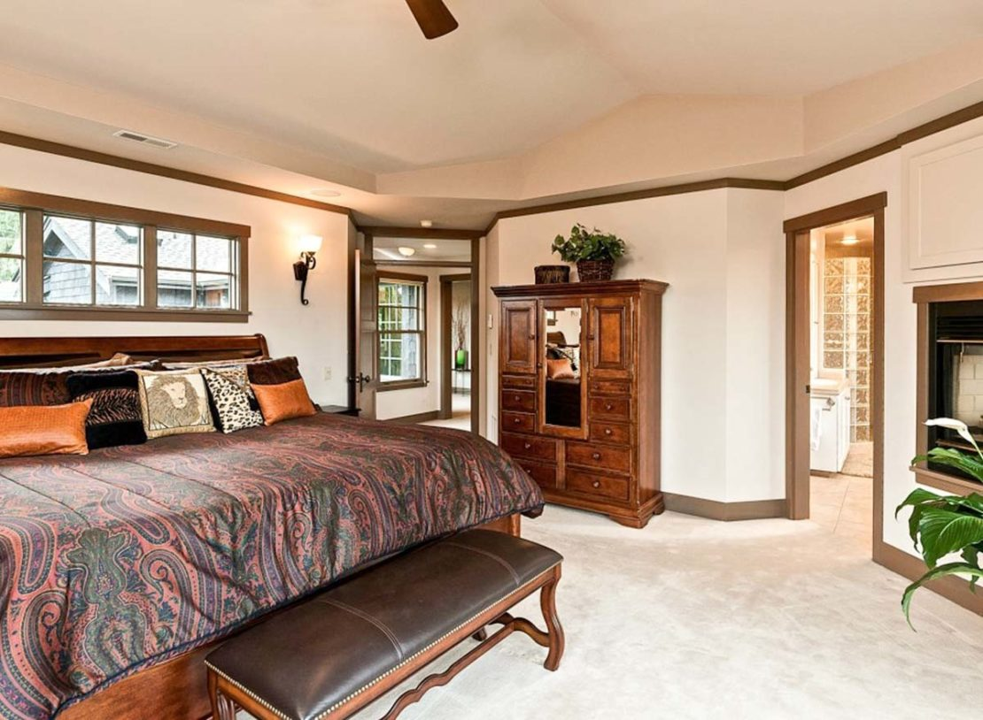 спальня в американском доме