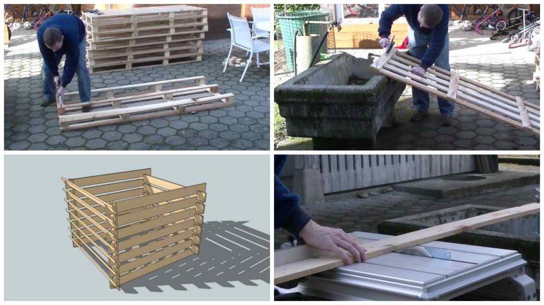 Изготовление компостного ящика на даче
