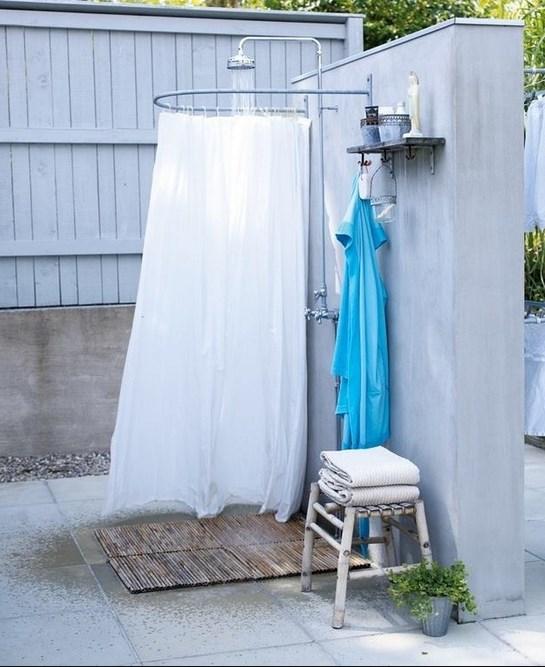 Летний душ из обруча