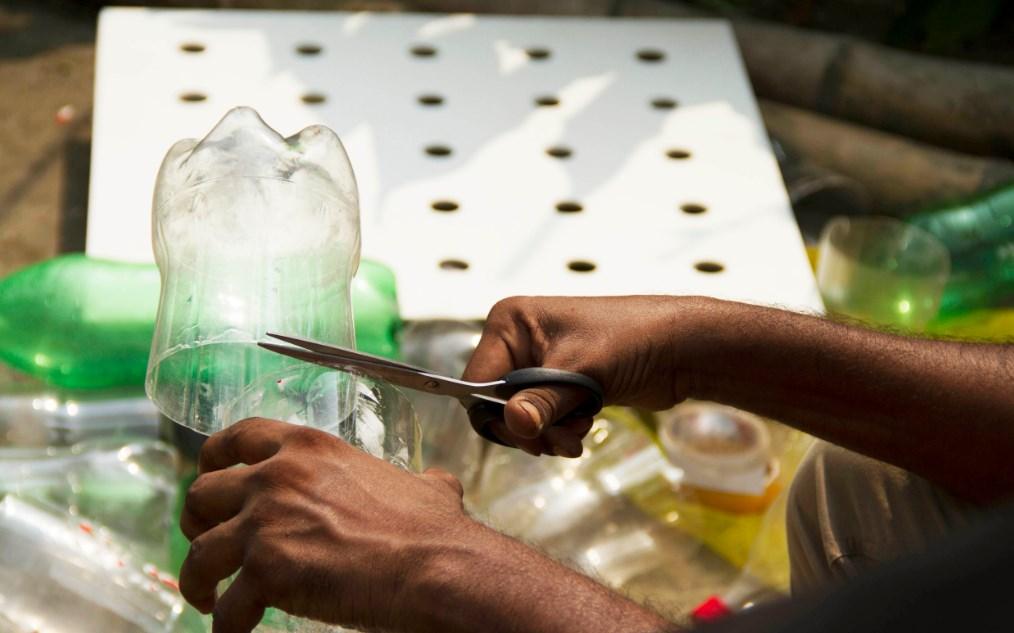 Кондиционер из пластиковых бутылок своими руками