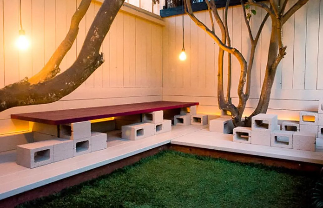 Идеи из бетонных блоков для дачи